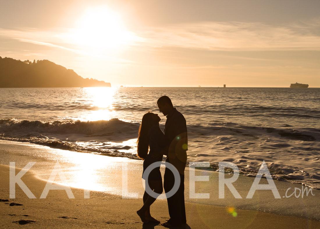 "photography, photographer, ""san francisco"" ""Baker Beach"" engagement, ""kat loera"" Vacaville, wedding, weddings, photo, shoot, beach, sunset, silhouette"